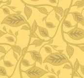 叶茂盛模式无缝的墙纸 免版税图库摄影