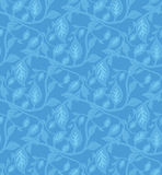 叶茂盛模式无缝的墙纸 免版税库存照片