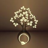 叶茂盛的树 库存例证