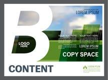 绿叶介绍布局设计模板 年终报告封页 库存图片