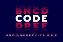 号码锁样式字体 向量例证