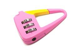 号码锁粉红色 库存图片