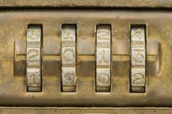 号码锁被设置到2013年 免版税库存图片