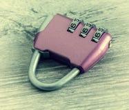 号码锁,老照片 免版税库存图片