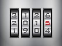 号码锁2015年 免版税图库摄影