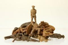 司令员德国战士玩具 免版税库存照片