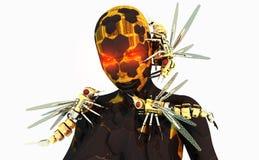 司令员靠机械装置维持生命的人黄蜂 库存图片