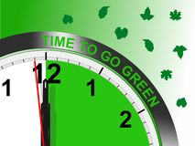 司令官格式去绿色时间 库存照片