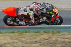 司机丹尼尔乌鲁蒂亚 地中海摩托车冠军 免版税库存照片