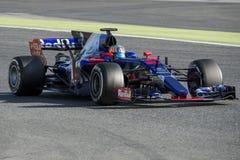 司机卡洛斯・塞恩斯 队托罗Rosso 免版税库存照片