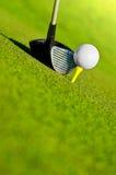 司机和球在发球区域 免版税图库摄影