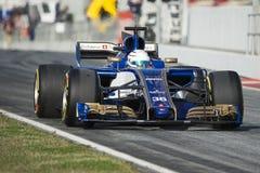 司机安东尼奥Giovinazzi 队Sauber 免版税库存图片
