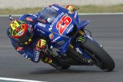 司机持异议者VINALES 卡塔龙尼亚MotoGP的妖怪能量格兰披治 库存图片