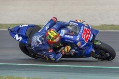 司机持异议者VINALES 卡塔龙尼亚MotoGP的妖怪能量格兰披治 免版税图库摄影
