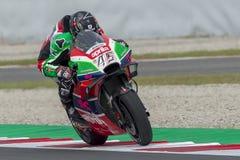 司机斯科特雷丁 卡塔龙尼亚MotoGP的妖怪能量格兰披治 库存图片