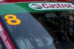 司机沙恩安东尼威廉斯 供以座位利昂EUROCUP 库存照片