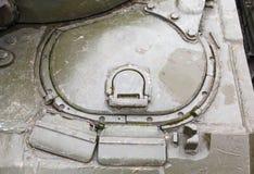 司机的T-54的舱口盖机械工 免版税图库摄影
