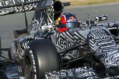 司机达尼尔Kvyat 队红色公牛F1 免版税库存图片