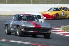 司机Ankli Chevrolet Corvette黄貂鱼 免版税库存照片