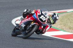 司机Florido SÃ ¡ nchez, Rufino Moto3 Mahindra队 FIM CEV Repsol 库存照片