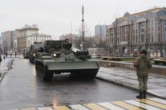 司令员` s坦克 免版税库存图片