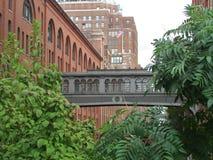 叹气曼哈顿纽约桥梁  图库摄影