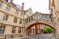 叹气桥梁。牛津,英国 库存图片