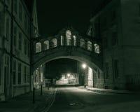 叹气桥梁在夜之前 免版税库存图片