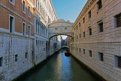 叹气桥梁在威尼斯,意大利 库存图片