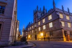 叹气桥梁在牛津在晚上,英国 免版税库存图片