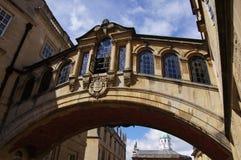 叹气桥梁在牛津 库存照片
