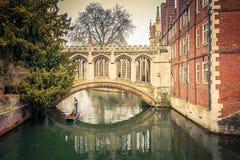 叹气桥梁,剑桥 库存图片