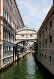 叹气桥梁,威尼斯,意大利 免版税库存照片