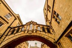 叹气桥梁,牛津,英国 免版税库存照片