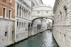 叹气Ponte dei Sospiri桥梁在威尼斯,意大利 免版税库存图片