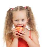 吃健康食物苹果的子项 库存图片