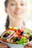 吃健康食物 免版税库存图片