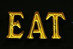 吃光霓虹灯广告 免版税库存照片