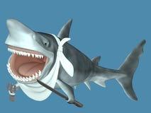 吃准备好的鲨鱼 库存图片