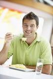 吃午餐人的咖啡馆 免版税图库摄影