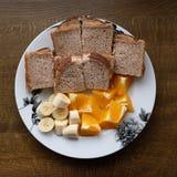 吃午餐健康选择3 库存照片