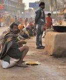 吃印地安人厨房街道瓦腊纳西 免版税库存照片