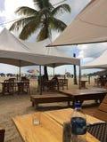 吃在海滩 免版税库存照片