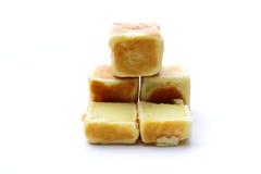 吃地面豌豆形状快餐正方形时间 免版税库存图片