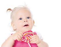 吃女孩的糖果 库存图片