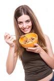 吃妇女的谷物 库存图片