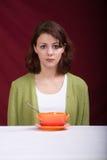 吃妇女1 库存照片
