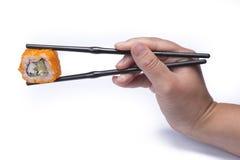 吃寿司 免版税库存照片