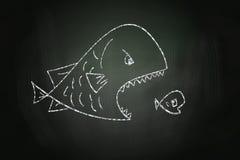 吃小鱼的大鱼 皇族释放例证