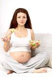 吃怀孕 免版税库存图片
